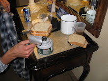 Camp Stove Grilled Cheese