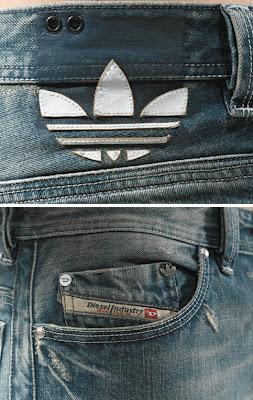 Adidas Diesel jeans 2008 logos jpg