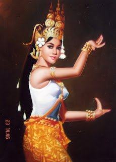Free Khmer Painting Photos: Apsara Dancing