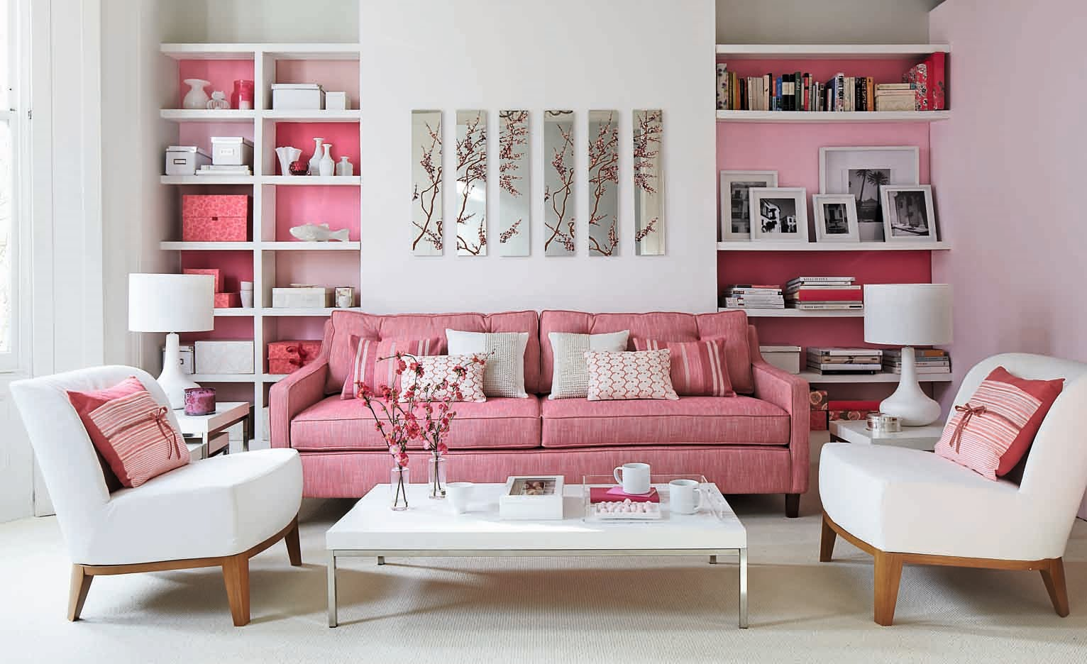 pink couches living room creative juice think pink 16226