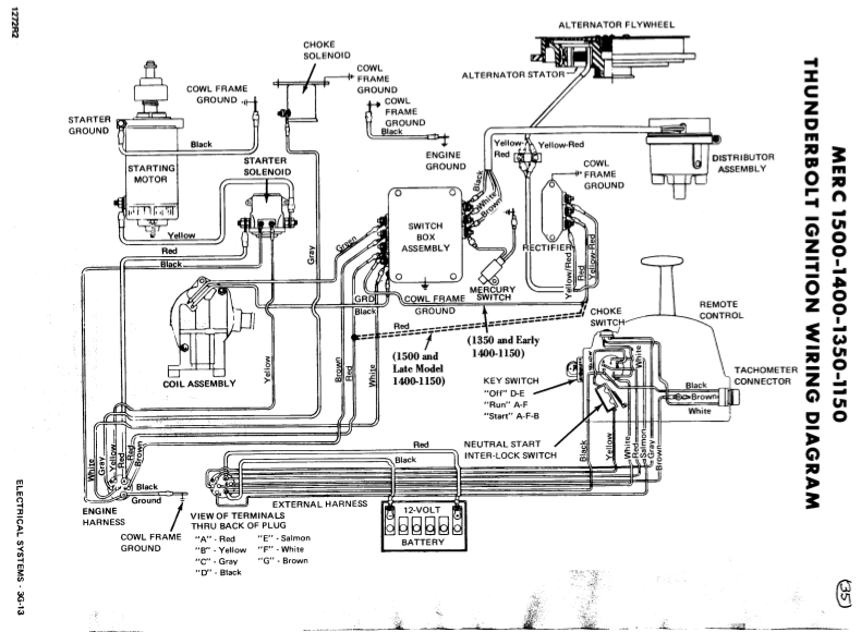 1987 35 Hp Mercury Outboard Wiring Diagram, 1987, Free