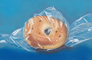 bagel daily pastel painting