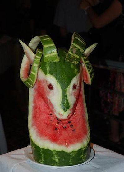 The Art of Carving of watermelons