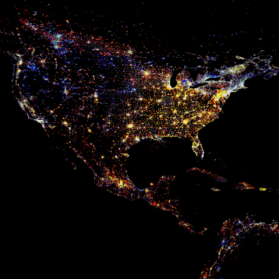 footprint north america nasa night light - photo #28