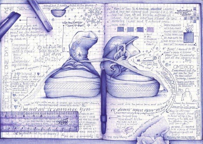 Desenhos lindos feitos à caneta