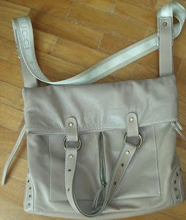 Fiorucci 2 way leather tote and sling bag  foldover tote f657c21e0a700