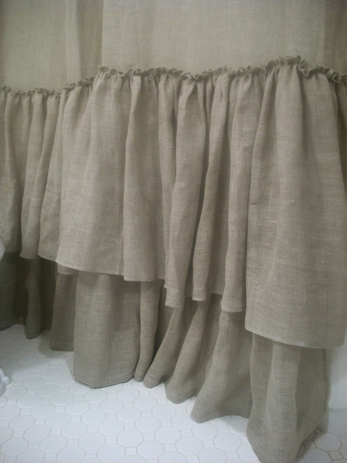 White Ruffle Shower Curtain Canada | Gopelling.net