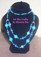 Blue Ocean Necklace by Monica Ria