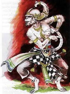 Lukisan timbul gambar wayang pandawa lima ukuran: Anoman | Blvckshadow