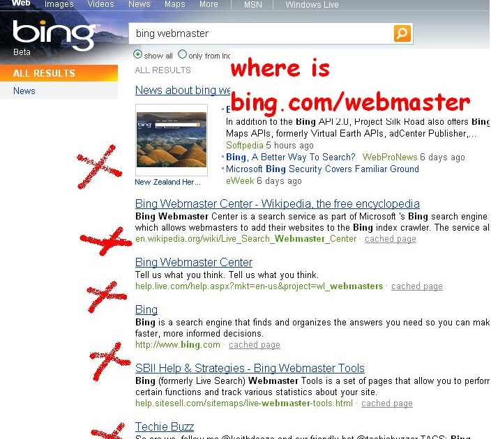 "Bing Sitemap: Just Now: Google Knows ""Bing Webmaster"" Better Than Bing"