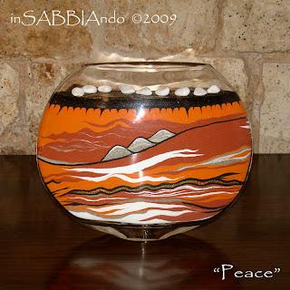 inSABBIAndo: Sand Art: vasi e bottiglie di vetro decorate