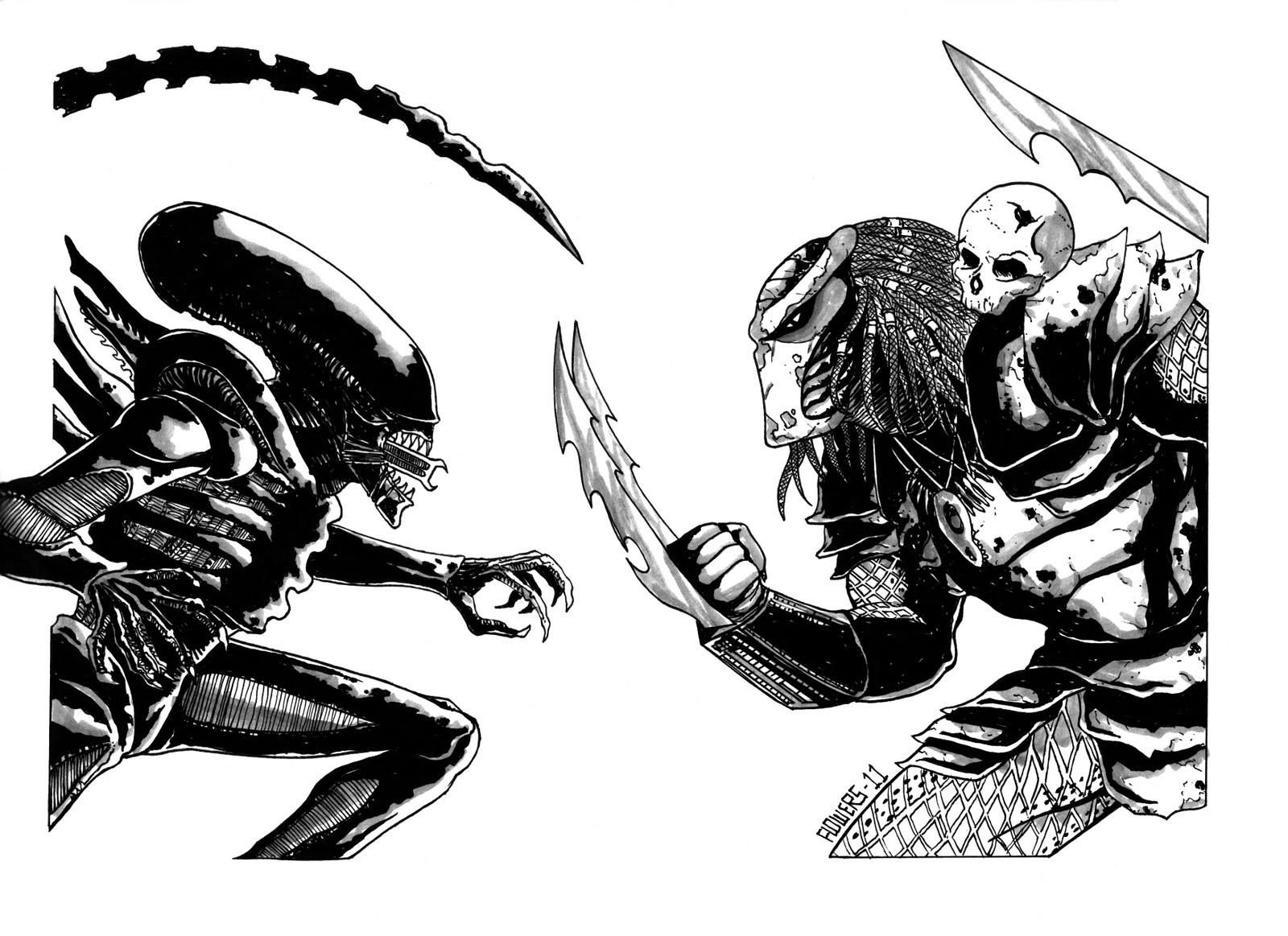 The art of jason flowers new alien vs predator