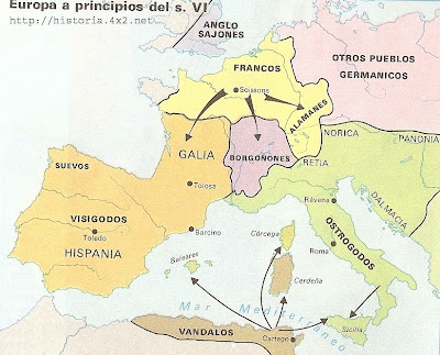 Europa a principios del siglo VI