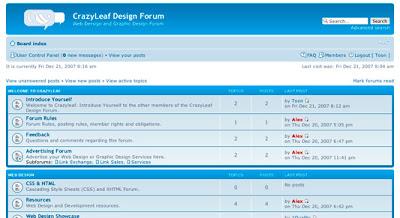 Crazyleaf Graphic Design Forum