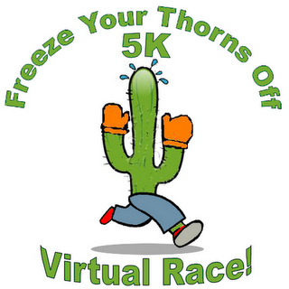 Freeze Your Thorns off 5K Race Report: I won! I won!