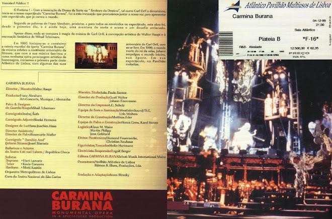 Carmina Burana - Carl Orff - Lisboa 31-10-1999