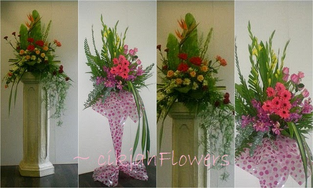 Cikjahonlineflowers Fresh Flowers Arrangements Pedestal Amp Single Tier Stand