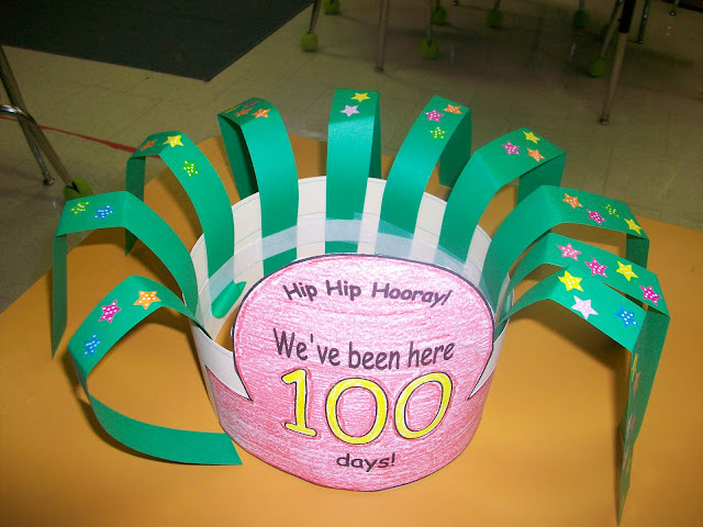 First grade school box 100th day of school hat for 100th day hat template