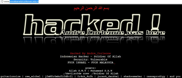 "Indonesian Hacker ""Andre_Corleone"" Deface Osvukkaradziczitkovac.edu.rs & Businesslicense.go.ke"