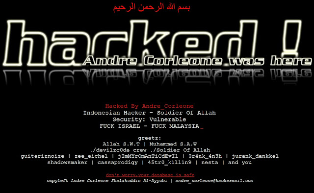 3 Websites Hacked By Andre_Corleone