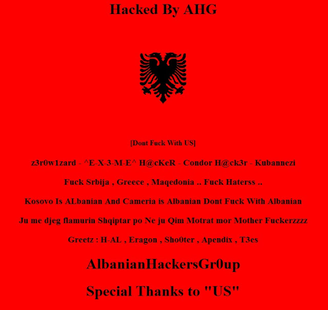20 Serbian sites Hacked by AHG-CREW !