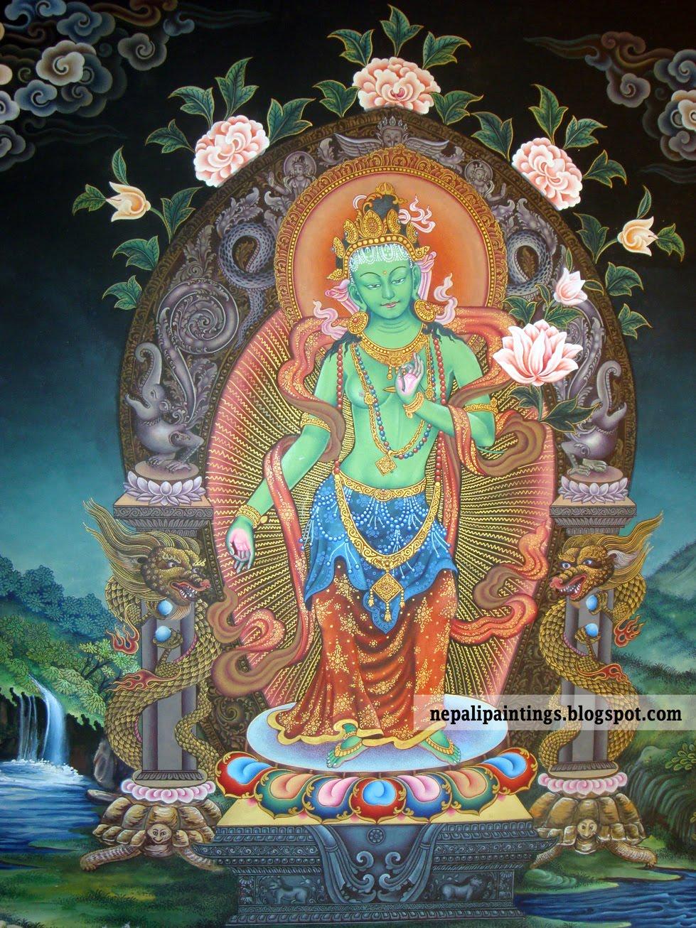 Green Tara 3: Thangka: Green Tara Details