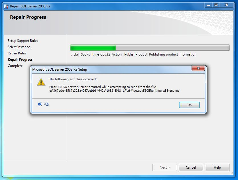 Clear to Partly Cloudy: SQL Server 2008 R2 Express Repair