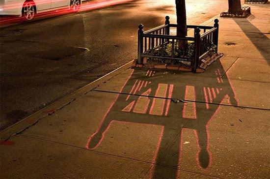 shadow street art NYC