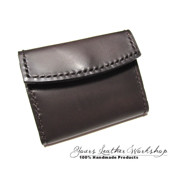 Yours Leather Workshop: 手製 真皮 (牛皮) 散子包 零錢包 Handmade DIY Leather Purse 聖誕禮物