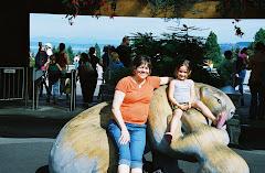 Grandma and Aliyah at the zoo