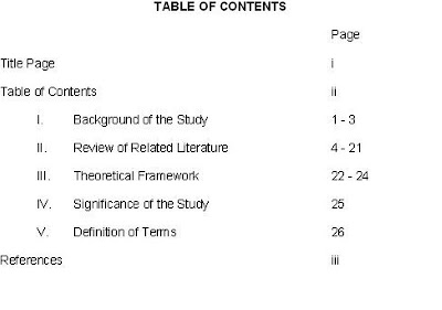 literature review title page