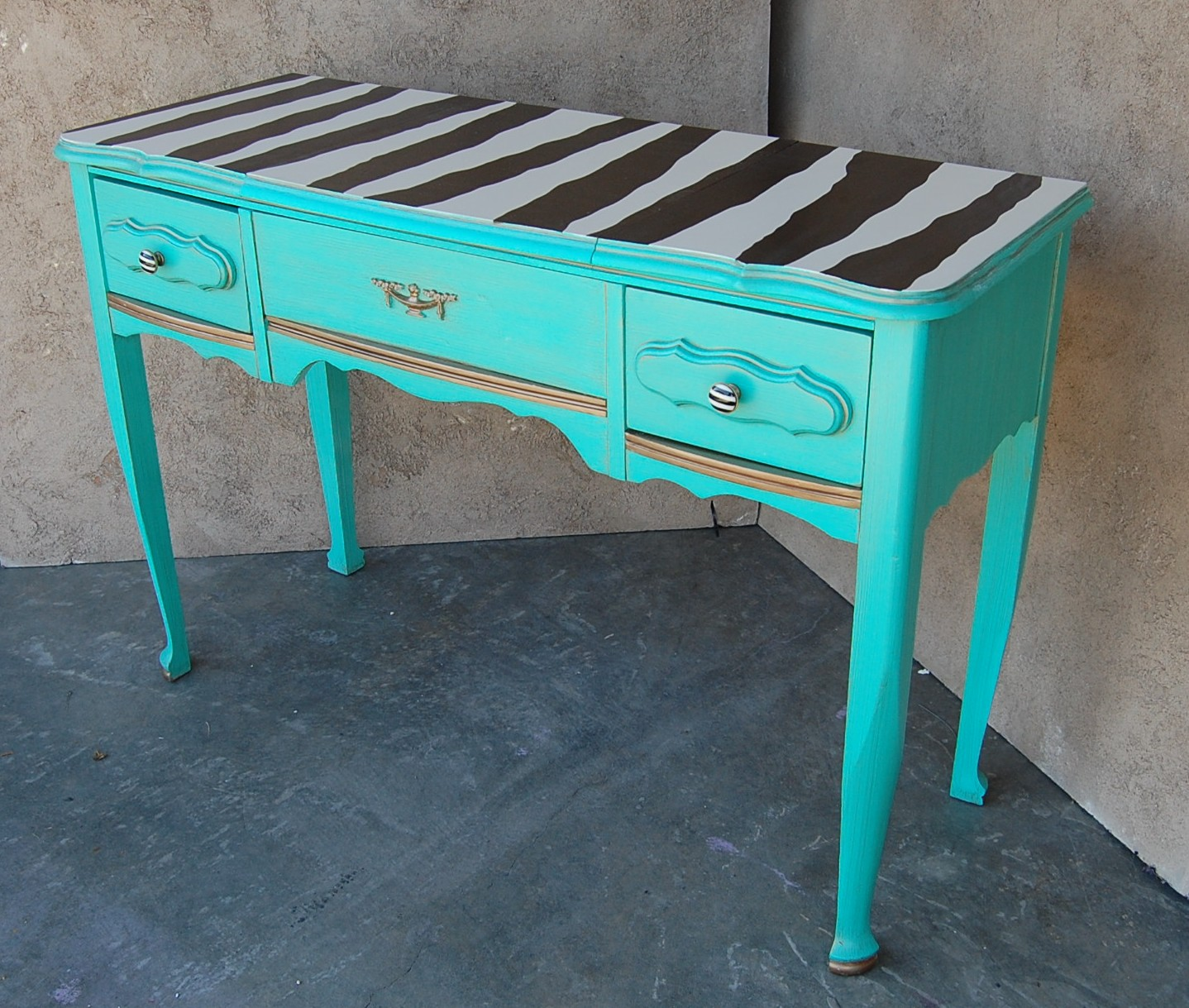 Turquoise Desk Chair Kcfauxdesign French Vanity Turquoise Happiness