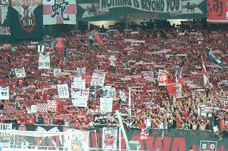 Urawa fans at Jeonju World Cup Stadium