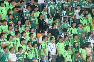 jeonbuk fans look depressed
