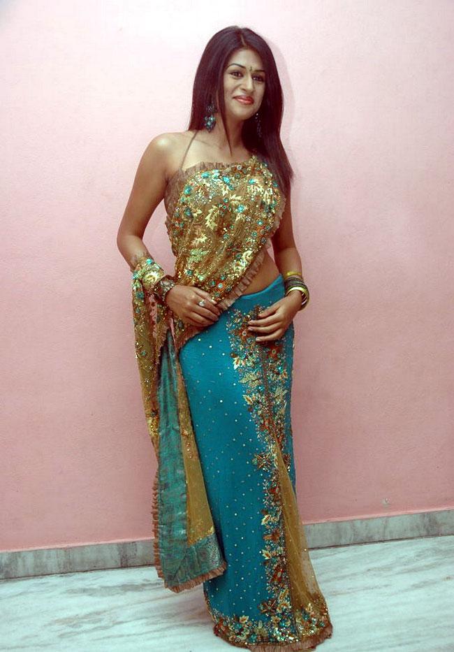 Shraddha Das hot navel show in saree | Bollymira