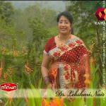Kairaly Tv Lakshmi Nair In Transparent Saree