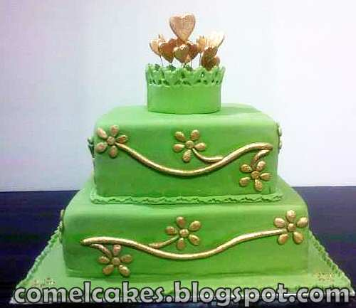 olive green and gold wedding cake comel s cakes amp cupcakes johor bahru 2 tiers stacked 17999