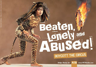 anti-circus poster featuring Shilpa Shetty