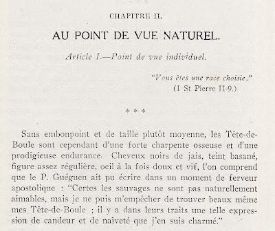 Jugement de l'oblat Guéguen, tiré de l'ouvrage de Joyal.