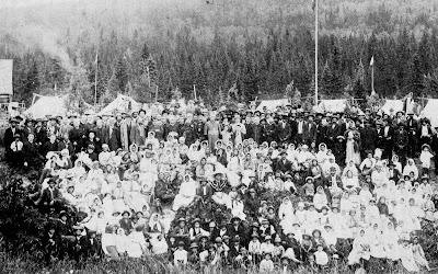 Visite du prélat Latulippe à Wemotaci, en juillet 1913.