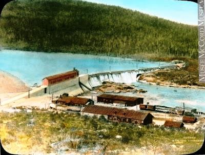 Photo extraite du site du Musée McCord, à Montréal. Vers 1930 - Commission des eaux courantes, Québec