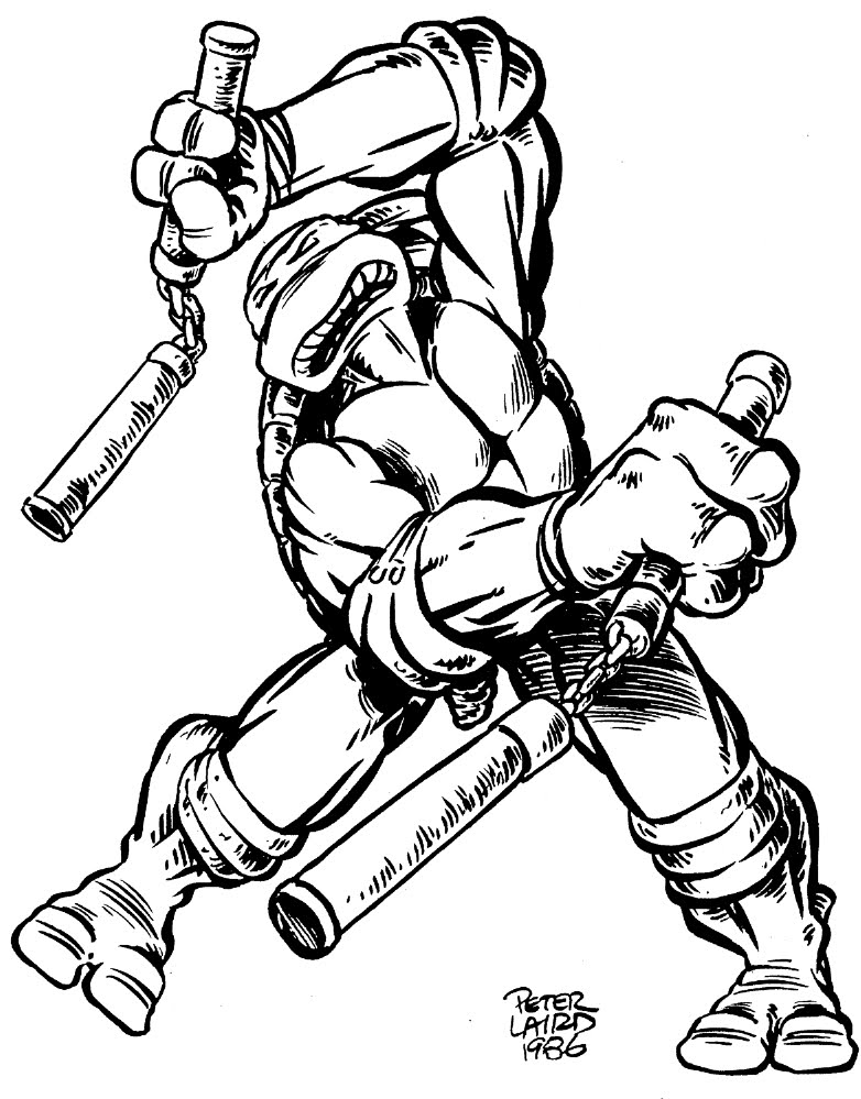 ninja turtles coloring pages michelangelo buonarroti   Peter Laird's TMNT blog: Blast from the Past #291 ...