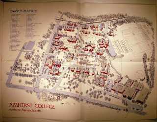 Amherst College Campus Map palblog: Blast from the Past #232: Amherst College campus map