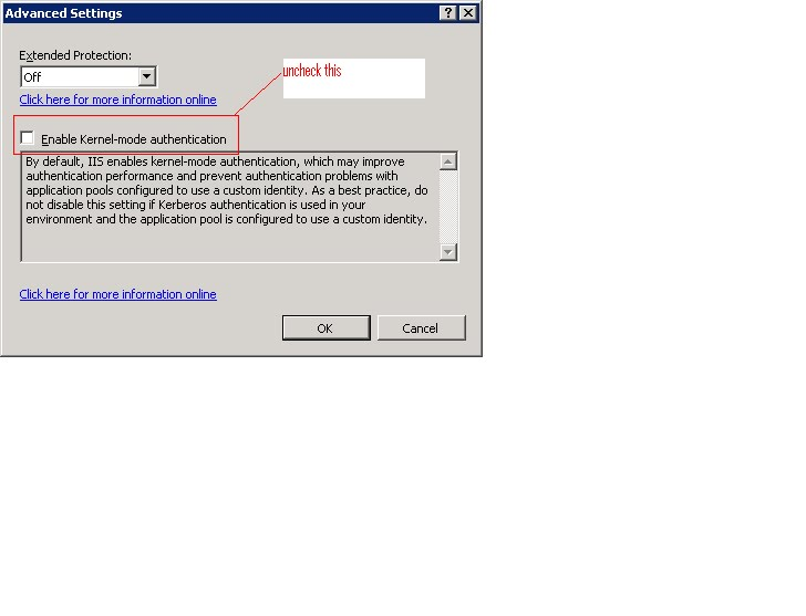 How to set iis to ntlm authentication for mapi