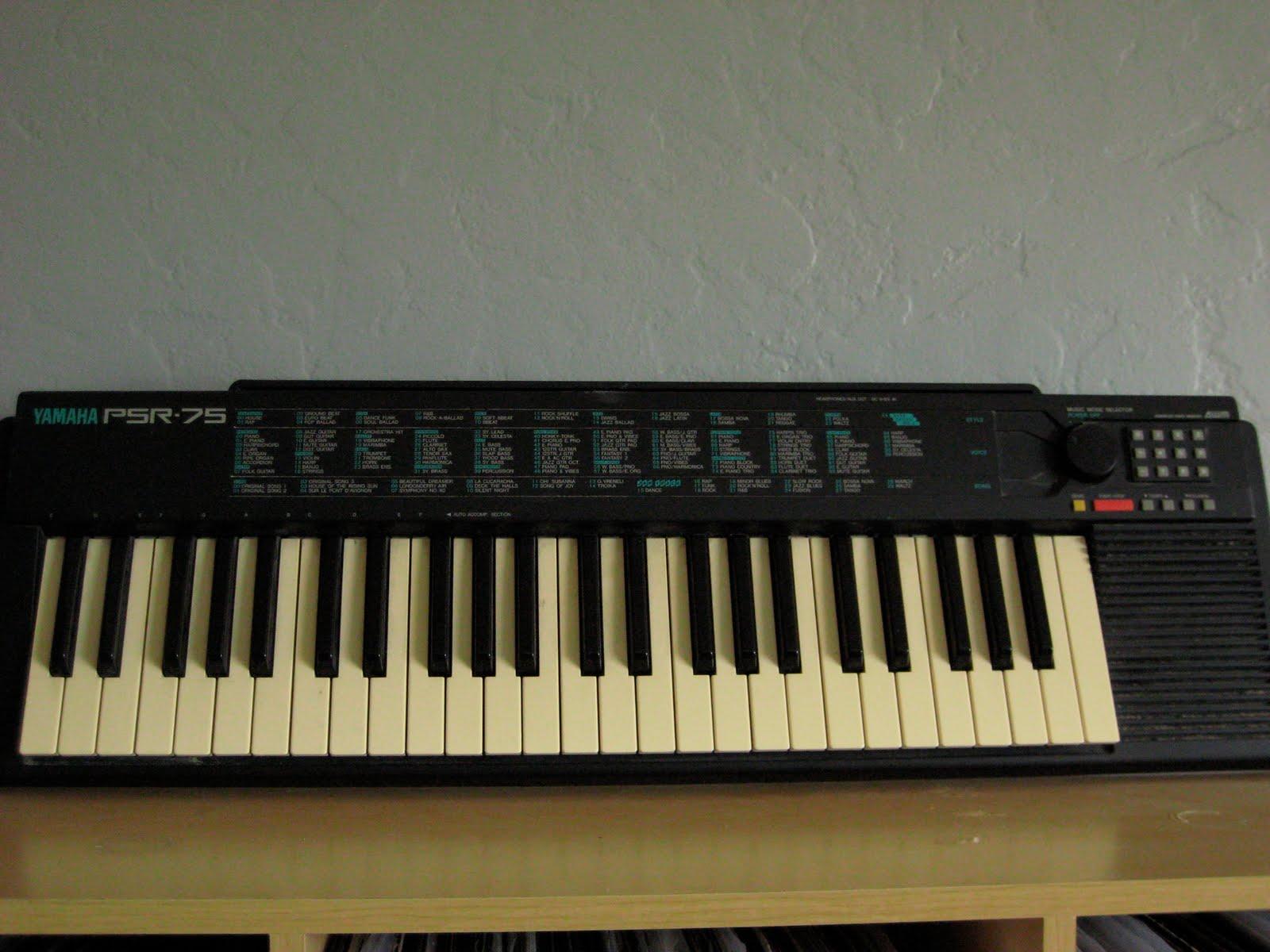 mat mog 39 s shop yamaha psr 75 electric keyboard 40. Black Bedroom Furniture Sets. Home Design Ideas