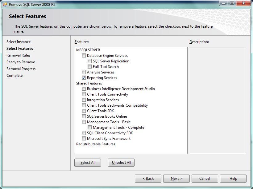 sqlfingers com: How to uninstall SQL Server Reporting