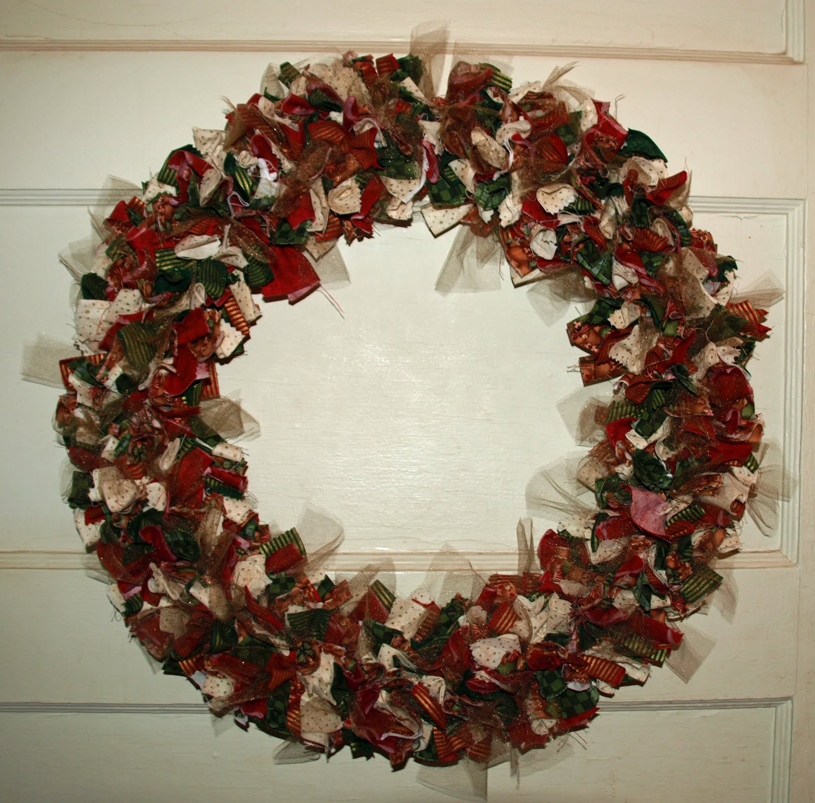 Lovin 39 life at the end of the dirt road patriotic rag wreath for Craft wreaths for sale