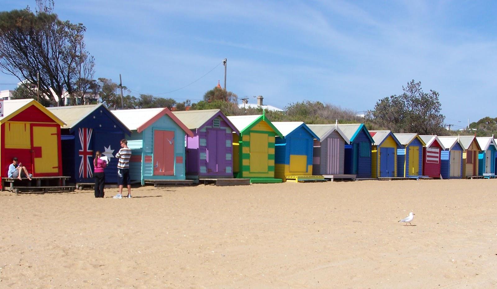 Colorful Houses Brighton Beach