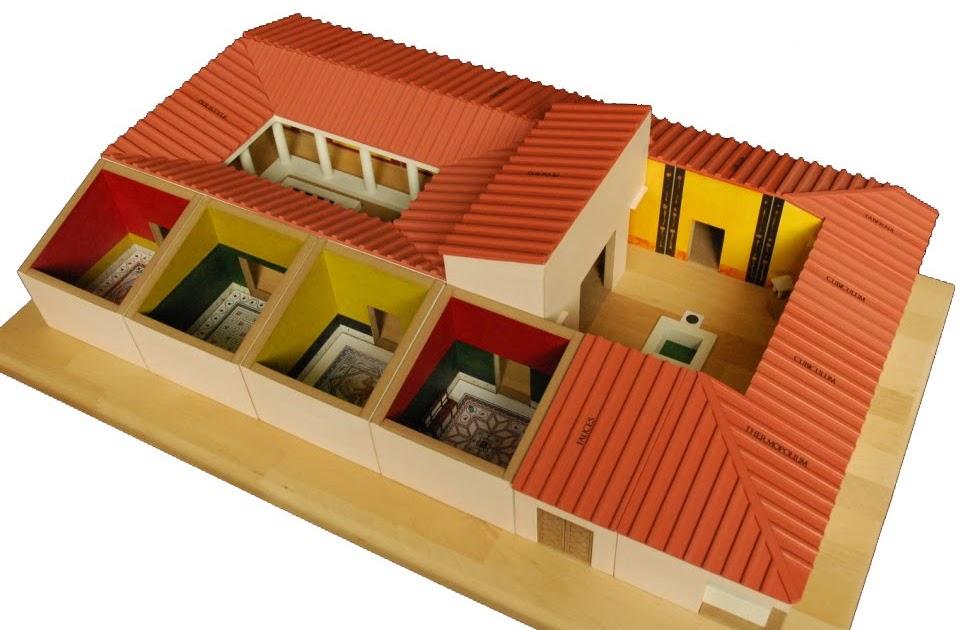 Monumental r duit maquette manipulable de maison romaine for Maquette d une maison