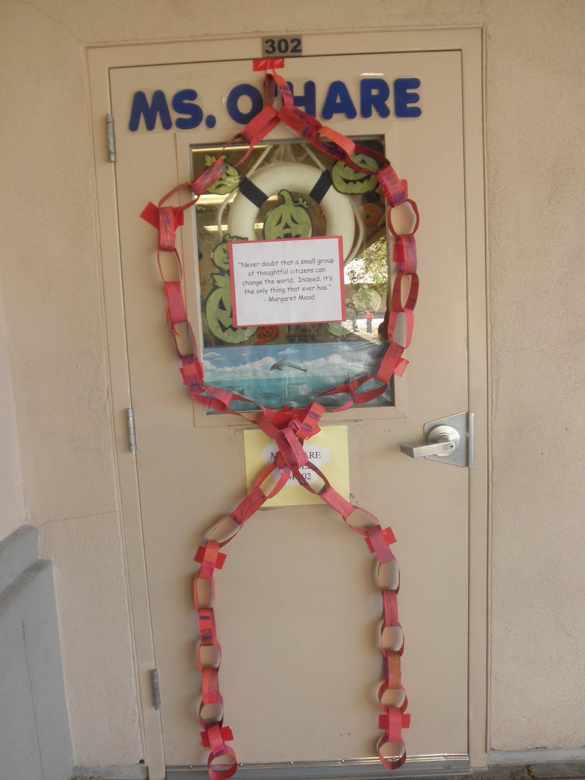 Miss O'Hare - Kindergarten: Door decorating contest